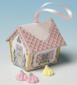 The Nutmeg Company Sugared Almonds Gingerbread House 3D Cross Stitch Kit