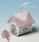 The Nutmeg Company Parma Violets Gingerbread House 3D Cross Stitch Kit