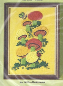 Wonder Art WonderArt Creative NeedleCrafts Stitchery Mushrooms Embroidery Kit #5012