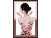 Happy Forever Cross Stitch, Figure, body painting