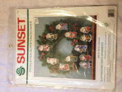 Sunset Old-fashioned Santa Ornaments Cross Stich on Perforated Paper Kit