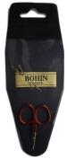 Bohin Soft Touch Embroidery Scissors ~ 6.4cm x 3.8cm ~ Red Handle Thread Snips ~ Mini Baby Scissors