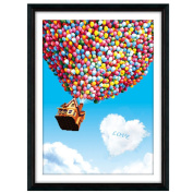 House flying with balloons 3D Stamped Cross Stitch Kit - 50cm By 70cm