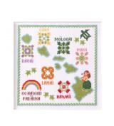 No.7865 Hawaiian Islands LECIEN cross stitch kit _Aloha Stitch Arohasutetchi_