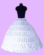 6-Hoop Hoops Petticoat White Bridal Crinoline Petticoats Slips Underskirt