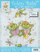 Tobin Frog Family Quilt Stamped Cross Stitch Kit