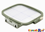 ThreadNanny 10cm x 10cm Embroidery Hoop w/ Placement Grids for Brother PE-700, PE700II, PE-750D, PE-770, PE-780D, Innovis 1000, Innovis 1200, Innovis 1250D, PC-6500, PC-8200, PC-8500 And Babylock Ellure, Emore and Esante