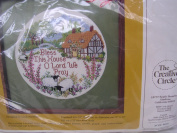 """House Blessing Cross Stitch Kit """"Bless This House O Lord We Pray"""" ; Home Decor"""