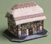 The Nutmeg Company Foxglove Cottage 3D Cross Stitch Kit