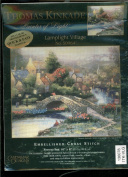 Candamar Designs - Thomas Kinkade Painter of Light Embellished Cross Stitch Kit - Lamplight Village 50964
