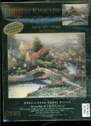 Candamar Designs - Thomas Kinkade Painter of Light Embellished Cross Stitch Kit - Lamplight Village 50964