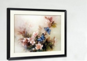 Qishi's Dimensions Needlecrafts Counted Cross Stitch 47cm x 36cm Blue Butterfly