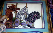 Something Special Needlepoint Kit # 30685 - Carousel Horses