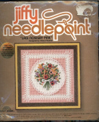 Vintage 1979 Jiffy Needlepoint Kit - Lace Nosegay Pink Designed by Cheryl Ruehle