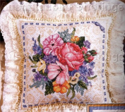 Bouquet on Lace Counted Cross Stitch