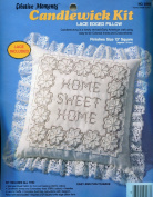 """Creative Moments Candlewick Kit ~ """"Home Sweet Home"""" ~ Lace Edged Pillow"""