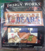Design Works Counted Cross Stitch Kit - I Love Bears