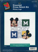 Mickey Unlimited Counted Cross Stitch Kit Mickey Logo