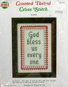 NeedleMagic Blessings Counted Thread Cross Stitch #524 God Bless Us Every One 13cm x 18cm