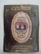 Paragon Needlecraft Country Collection Counted Cross Stitch Oval Hoop Kit 'Families Are Forever'