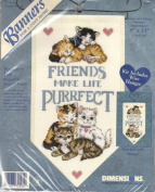 Purrfect Friends - 8x13 Cross Stitch Banner Kit