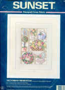 Sunset Stamped Cross Stitch Kit ~ Victorian Mementos Designed By Karen Marie Zabroski