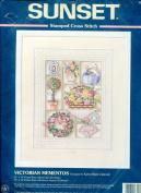 Sunset Stamped Cross Stitch Kit ~ Victorian Mementos Designed By Karen Marie Zabroski