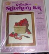 Vintage Crown Arts Creative Stitchery Kit - No. 4005 Strawberries