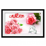 Love Forever Pink Rose 3d Cross Stitch Kit - 70cm By 45cm