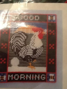 Good Morning Rooster Wallhanging - Plastic Canvas Kit # TF 2072