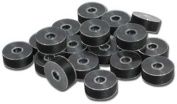 "Exquisite Plastic Sided Black Polyester Pre-wound Bobbins Size ""L"""