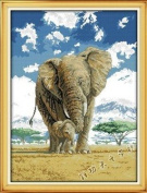 Happy Forever Cross Stitch, Animals, the elephant mother and child