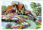 Qishi's Dimensions Needlecrafts Counted Cross Stitch 60cm x 46cm Country House