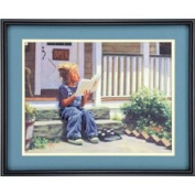 Swept Away - Cross Stitch Kit with Wool Crewel Yarn and Portions of the Design Printed in Full Colour - Needle Treasures - #00676