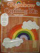 "Rainbow Quilting Kit ""PEEK-A-BOO RAINBOW""."