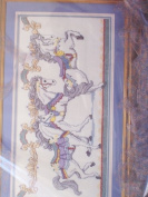 Stamped Cross Stitch 0 Carousel Horses Picture