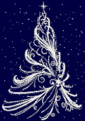 White Christmas Tree Counted Cross Stitch Kit