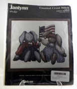 Liberty Bunnies, Counted Cross Stitch Kit