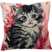 Collection D'art Mistigri Pillow Cross Stitch Kit 15 3/4'X15 3/4'