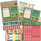 K & Company Boy Scouts Embellishment Scrapbook Kit Flip Pack, Adventure