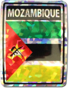 Mozambique - 7.6cm x 10cm Reflective Decal
