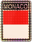Monaco - 7.6cm x 10cm Reflective Decal