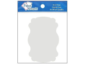 AD Paper Chipboard Shapes 8pc Marquee White