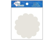 Paper Accents Chipboard Shapes Scalloped Circle White 8pc