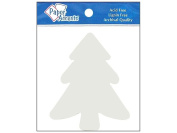 AD Paper Chipboard Shapes 8pc Tree White