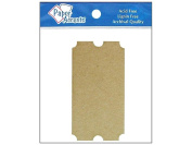 AD Paper Chipboard Shapes 8pc Ticket Natural