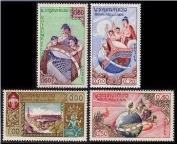 Laos Stamps - Scott # 48-51, MNH, F-VF