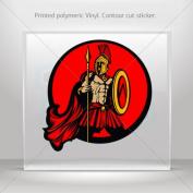 Decals Sticker Spartan Roman warrior car helmet window bike Garage door 0500 XZZ24