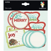 Imaginisce Colours of Christmas Journaling Die Cut Tag Embellishments