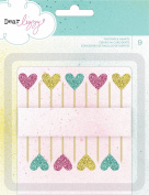 American Crafts Dear Lizzy Polka Dot Party Toothpick Glitter Hearts